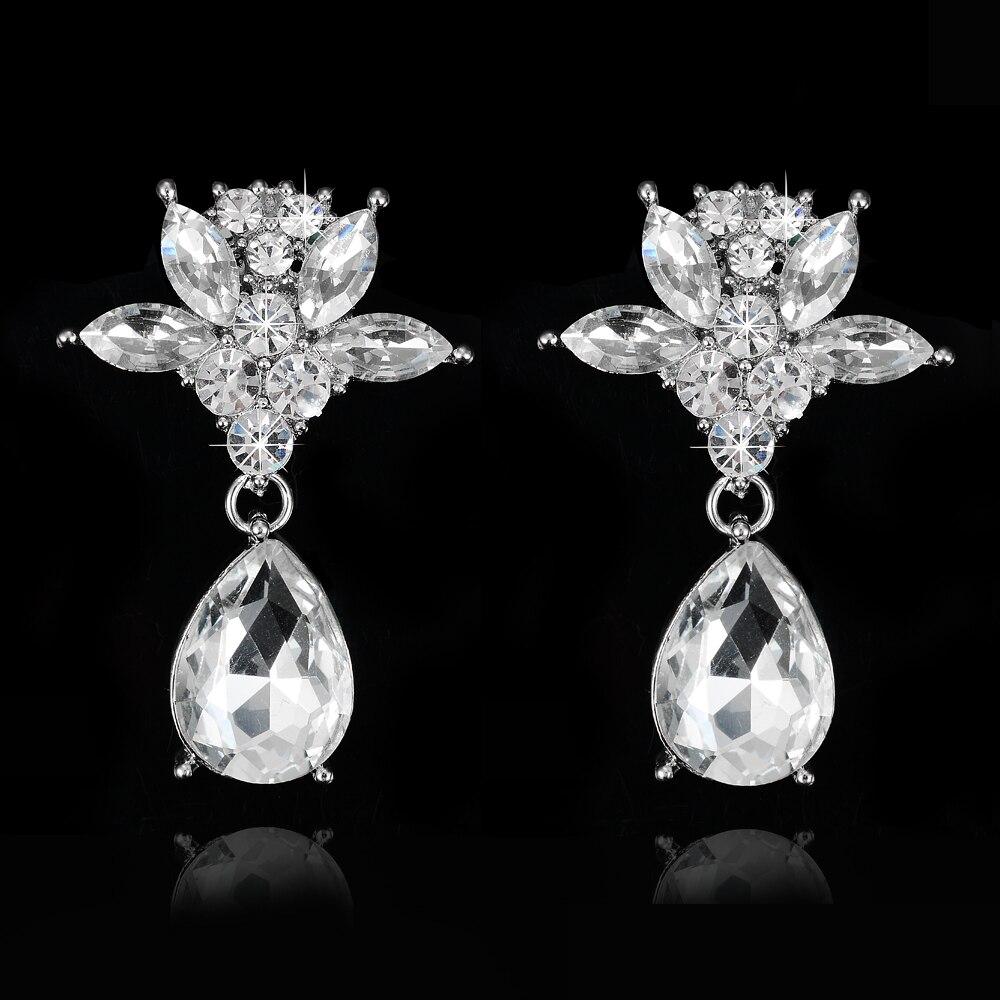 0aa1db2619c7 Nueva elegante brillante Diamantes con piedras falsas hembra pendiente del  perno prisionero para las mujeres de alta calidad danza Partido Accesorios