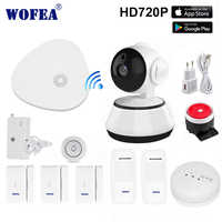 wofea  EN RU ES  Wireless Home Security WIFI Alarm system APP Remote Control SMS and auto dial