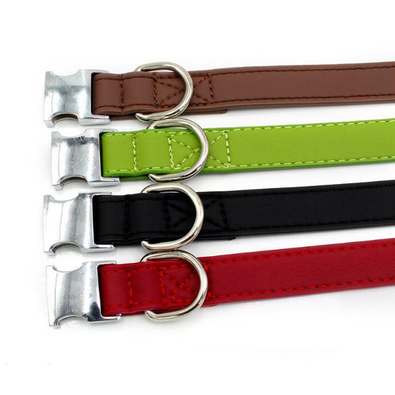 HEYPET Dog Collar Pet Dog Tag Leather Personalized Adjustable All Metal Buckle Collar Collar for Dogs Leash in Collars from Home Garden