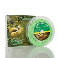 SF Green Fly Fishing Cast Line Weight Forward Floating WF 6 F Wt With Two Loops
