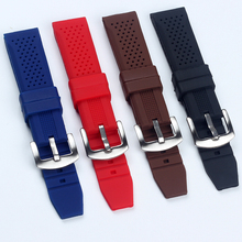 18MM 20MM 22MM 24MM Strong Flexibility Silicone Rubber Watch Bangs For TAG Strap HEUER AQUARACER MONACO Straps