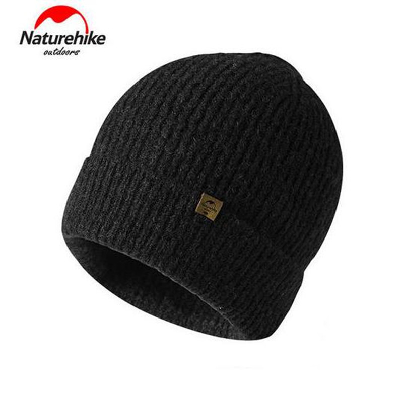 NatureHike Winter Warm Sport Caps Men Women Outdoor Wool Beanies Knitted Hat For Skiing Camping Hiking Trekking new winter beanies solid color hat unisex warm grid outdoor beanie knitted cap hats knitted gorro caps for men women page 2