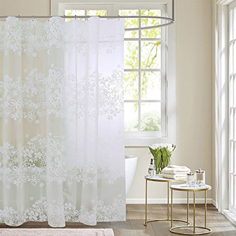 modern peva waterproof printing shower curtain thick translucent quality bath curtain mildew