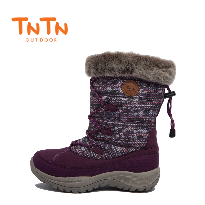 TNTN2017 winter thick casual warm waterproof down snow boots ski shoes
