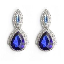Addy store Oorbellen SWAROVSKI  Crystal  Big Earrings for Women Blue and Silver Color Drop Earrings Jewelry Earrings недорого