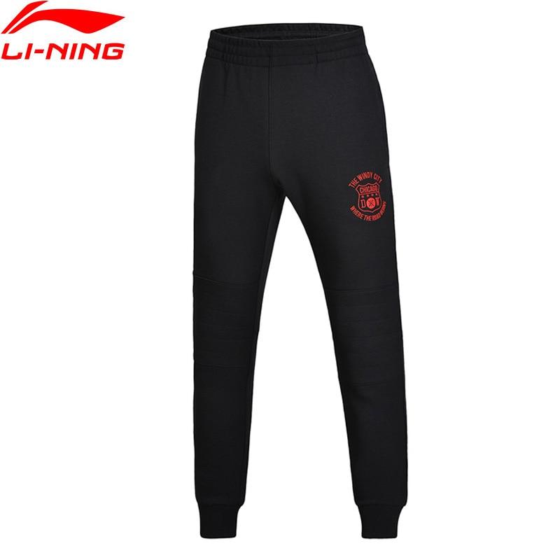 Li-Ning Men Wade Series Sweat Pants 3D Fitting 66% Cotton 34% Polyester Regular Fit LiNing Sports Pants AKLM605 MKY330 li ning men wade series hooded coats 71