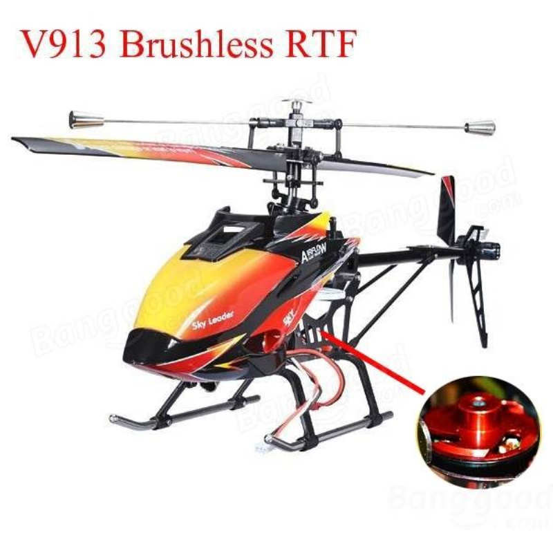 Brushless Version RC Helicopter RTF V913 4CH 70cm 2.4GHz Built-in Gyro rc toys Super Stable Flight plane for child gifts wholesale eagle a3 super ii flight controll gyro 3d avcs for fixed fpv half set