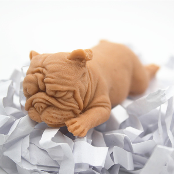 Bulldog Chocolate Cake Ice Cube Mold Gypsum Aromatherapy Plaster Craft Decorating Mould DIY 3D Dog Soap Silicone Molds