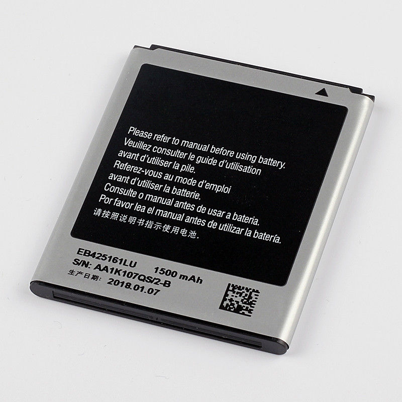 Dinto 1pc New 1500mAh EB425161LU Smart Phone <font><b>Battery</b></font> for Samsung GT-S7562L S7560 S7566 S7568 S7572 S7580 i8160 <font><b>i8190</b></font> i739 T59 image