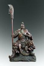 hot deal buy chinese sculpture classical bronze guangong  guandi - sword figurine duke guan yu  home decoration arts collections