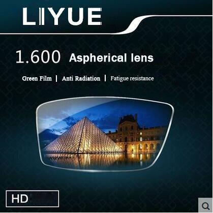 LIYUE index 1.61 super thin single vision lenses ASPHERIC prescription lenses anti ultraviolet radiation for myopia and presbyop
