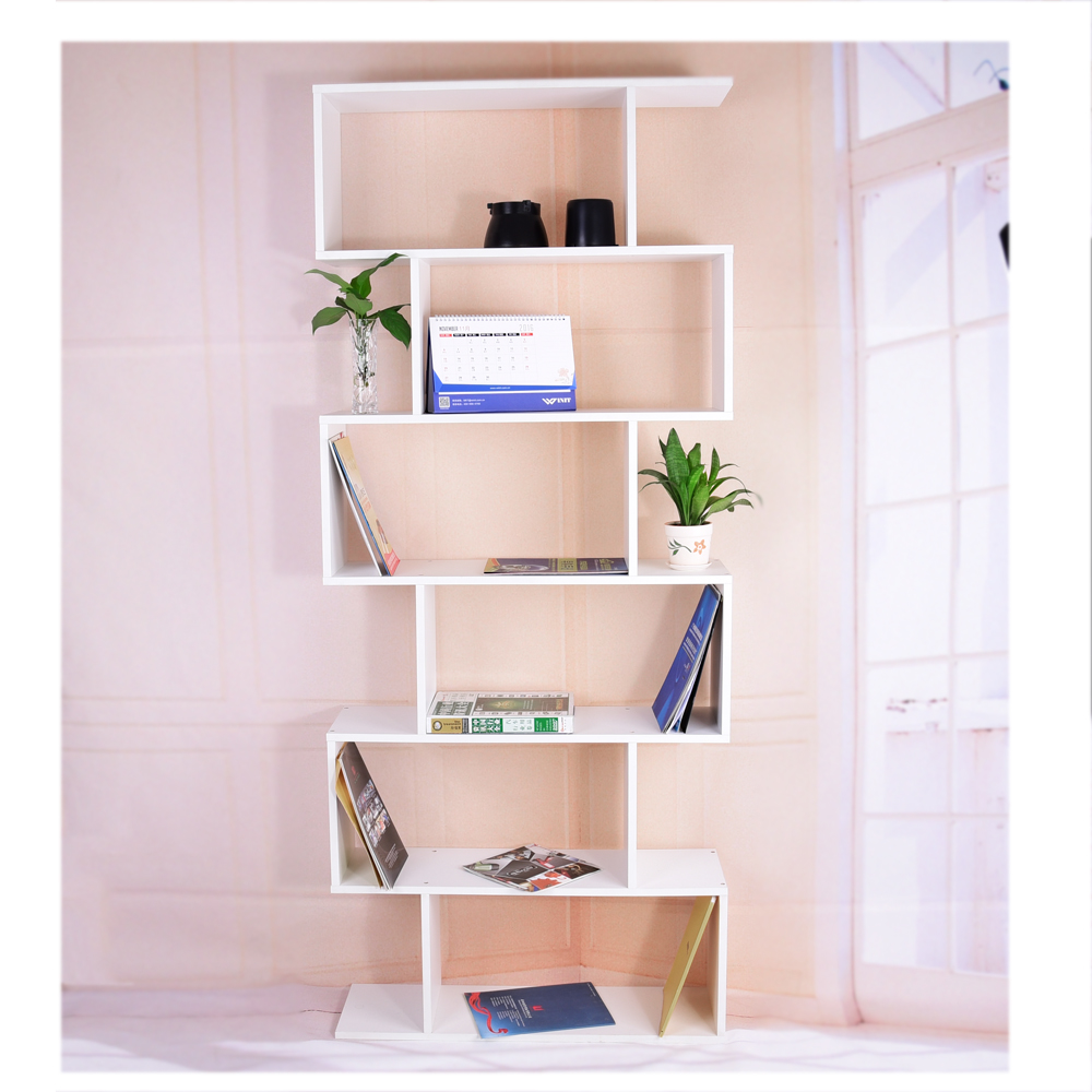 Modern Wooden Bookcase 6 Layer Study Book Shelf Display Cabinet Home  Furniture Dropshipping
