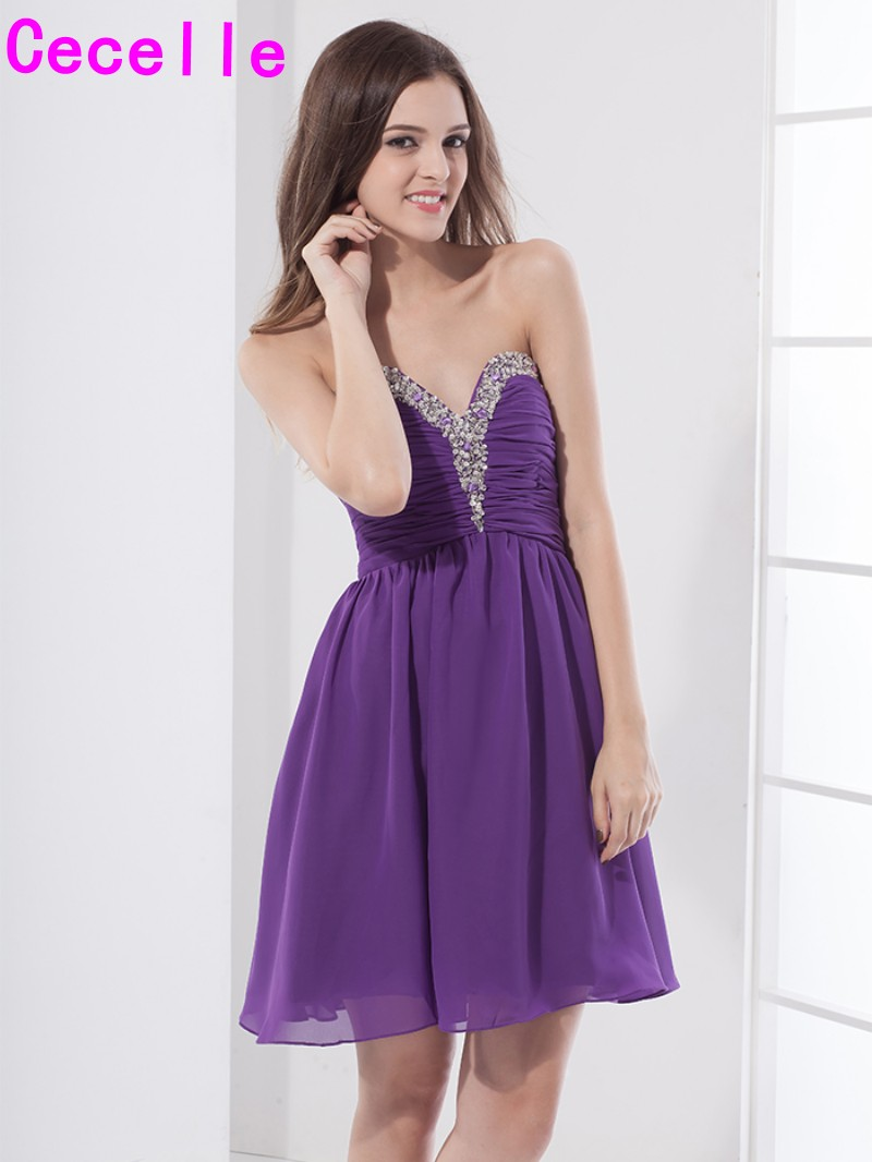 Cheap purple short a line chiffon cute prom cocktail dresses beaded cheap purple short a line chiffon cute prom cocktail dresses beaded ruched mini cocktail party dresses real images juniors dress in cocktail dresses from ombrellifo Choice Image