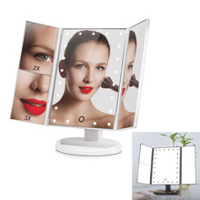 Touch Screen Folding Makeup Mirrors With 24 LED