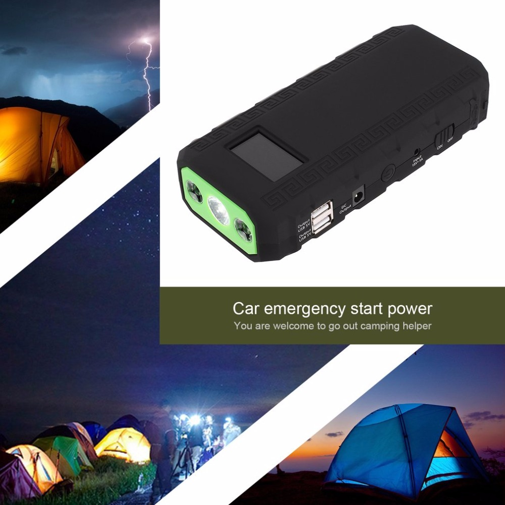 68800mAH LCD Display 12V 4 USB Portable Mini Car Emergency Jump Starter Booster Battery Charger Power Bank For Emergency