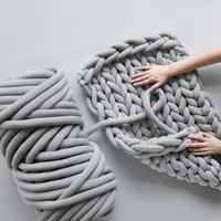 1000g Super Thick Chunky Yarn Hand DIY 30mm Soft Anti pilling Bulky Arm Weaving Blanket Spin Roving Yarn for Knitting
