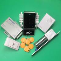 DIY 8000 User Card Access Control Rfid Access Control Waterproof+10 Piece 125KHZ Key tags+Electric Lock+Power Supply+Door Bell