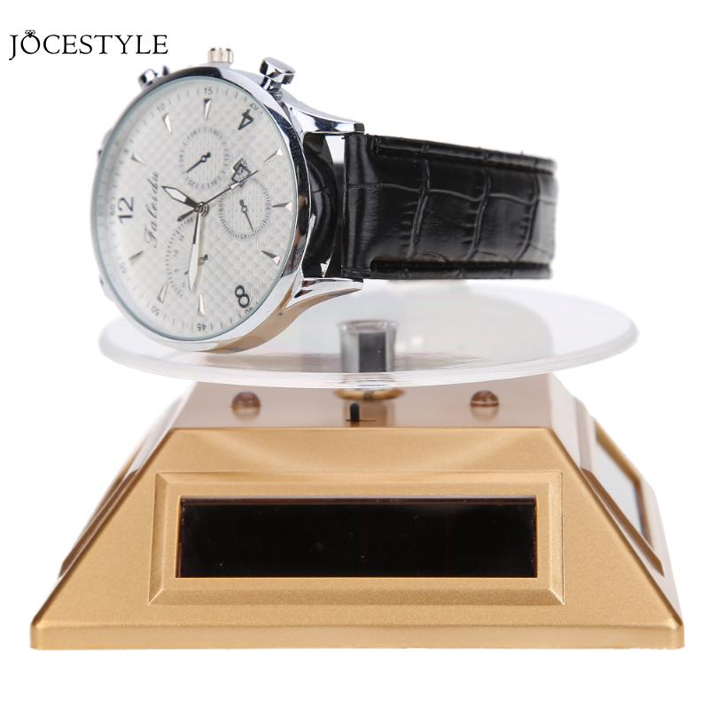 Repair Tools & Kits Search For Flights Fashion 3 Led Color Lights Solar Showcase 360 Degree Turntable Rotating Jewelry Watch Ring Display Stand