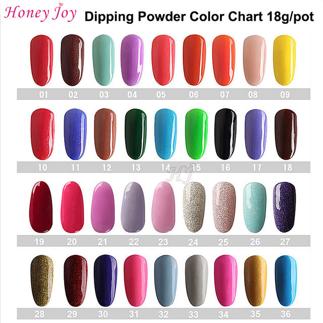 18g/Box Color Chart #1 #80 Colorful Dipping Powder Without Lamp Cure ...