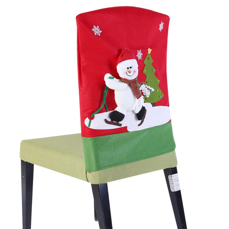 New Home Party Decorations: Christmas Decoracion Navidad Chair Covers Christmas