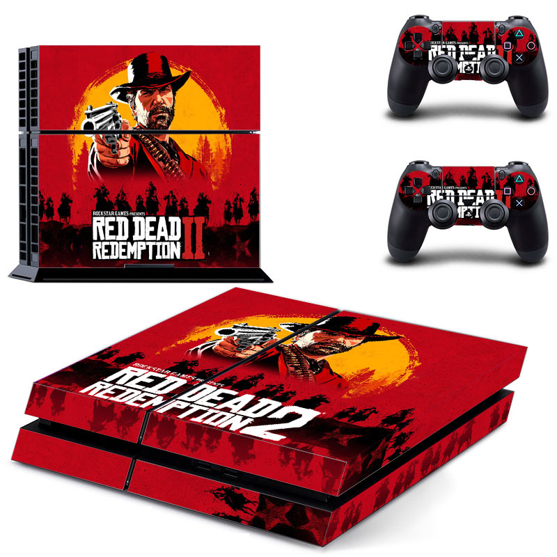 Red Dead Sticker Skins For Sony PS4 Console + 2 Controller Decal Cover For Sony Playstation4 Gamepad Game Vinyl Accessories