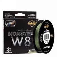 Nouveau super Monster W8 Super fort 300 M 8 brins tisse PE tressé ligne de pêche corde Multifilament 20LB 30LB 40LB 50LB 80LB 100L