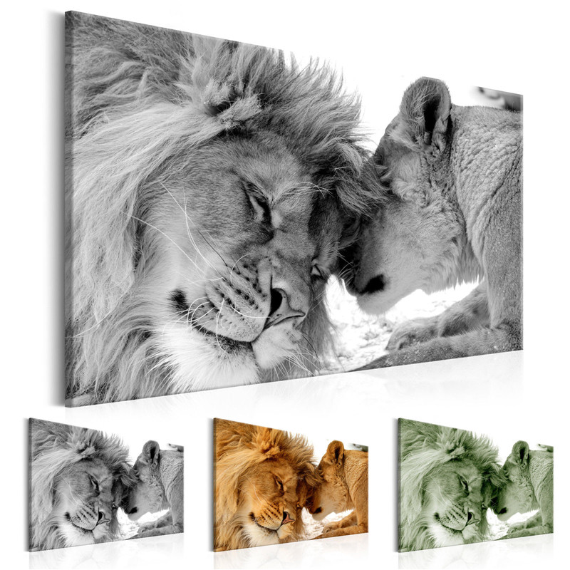 The King Of Animals Canvas Painting Cute Leopard Lion Posters And Prints Photo Wall Art Pictures For Living Room Decoration