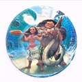 10pcs 7inch Kids Favor Baby Shower plate Decorations Moana Paper Dishes Happy Birthday Party Supplies Tableware