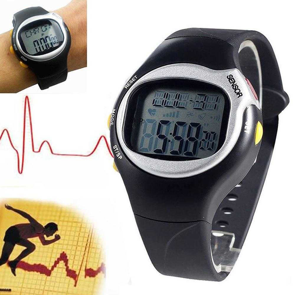 Forfar Men Outdoor Fitness running Pedometers LED Digital Heart Rate Monitor Multi-Function Watch Waterproof Sports Watches