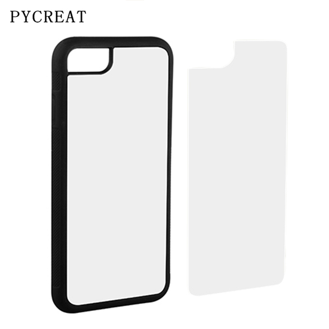 the best attitude 0fa90 8d679 US $22.86 10% OFF|For iPhone 7 2D Sublimation Case Rubber TPU Back Cover  With Aluminum Blank Insert Metal Plate For iPhone 7 DIY Style JC Coque-in  ...