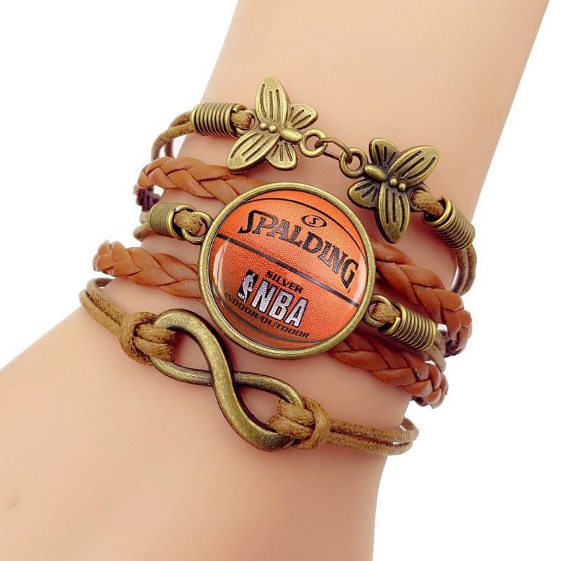 Pulseiras Bangles Bangle New 2019 Simple Fashion Men's Basketball Player Time Gem Knitted Bracelet Combo Jewelry Accessories image
