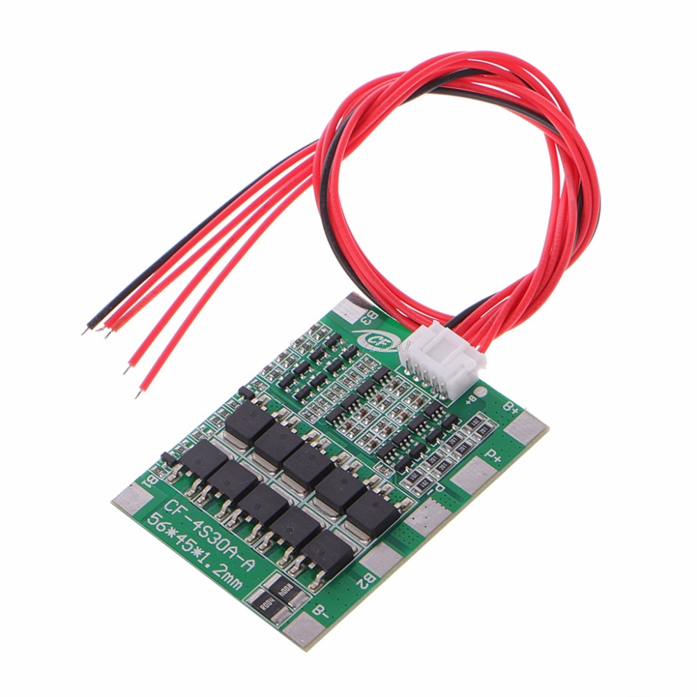 4S 30A 12.8V With Balance LiFePo4 LiFe 18650 Battery Cell BMS Protection PCB Board Dropship