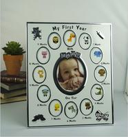 Europe metal My First Year Kids Birthday Gift Home Family Decoration Ornaments 12 Months Picture mini baby frame photo XC079