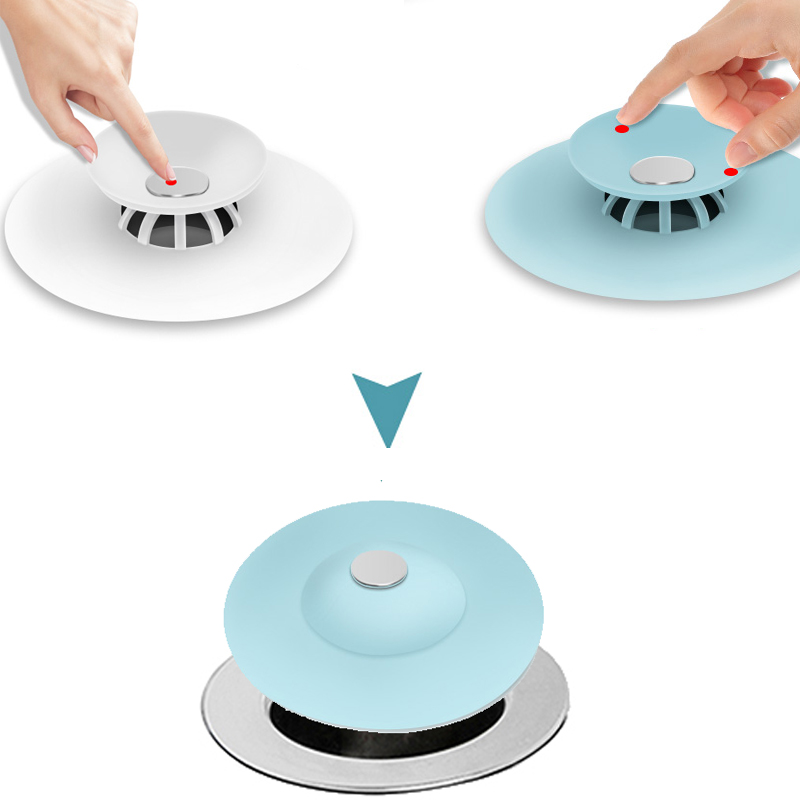 Rubber Circle Silicone Sink Strainer Filter Water Stopper