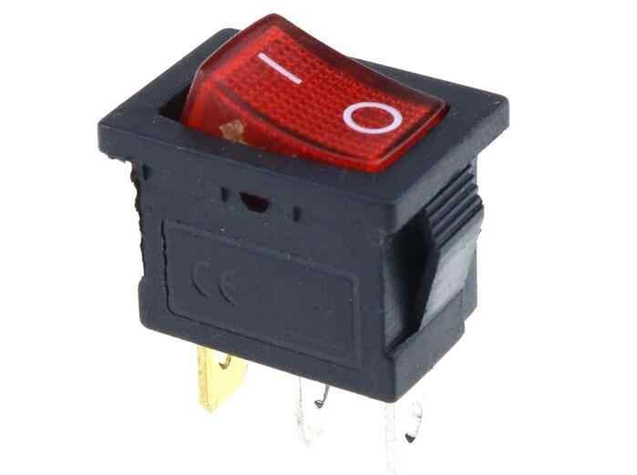 KCD1 ВКЛ-ВЫКЛ 3Pin лодка выключатель автомобиля 6A/10A 250 V/125 V AC красный желтый и зеленый цвета синий, синий, на пуговицах, Лучшая цена
