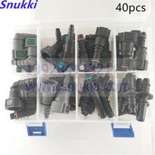 高品質 1 セット SAE 燃料パイプ継手の自動燃料ラインクイックコネクタキット全体セット合計 40 個車の燃料ラインコネクタ