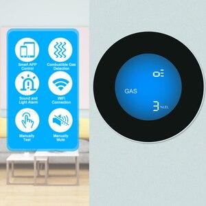 Wifi detector de gás combustível doméstico detector de vazamento de gás natural liquefeito petróleo vazamento testador sniffer app controle remoto   -