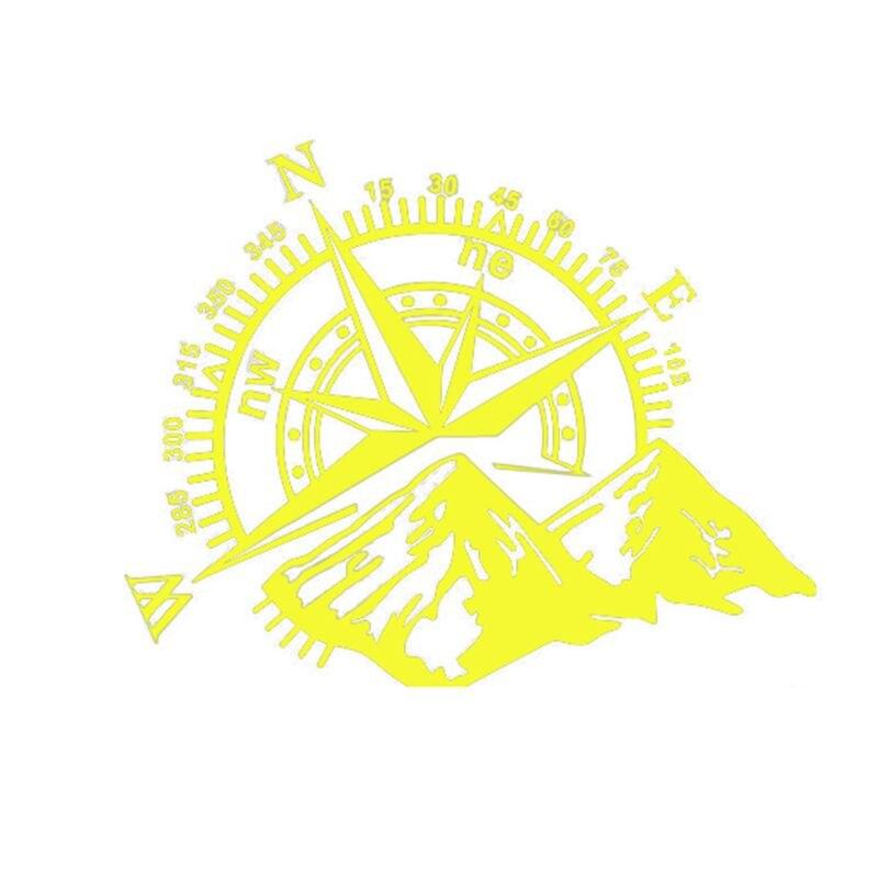 48*34 см внедорожный компас автомобильный стикер Роза навигационная виниловая наклейка Декаль для автомобиля грузовика Авто ноутбук двери автомобиля и капот - Название цвета: Цвет: желтый