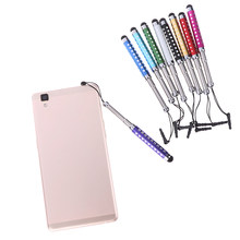 Intrekbare Capacitieve Stylus Touch Scherm Teblet Pen Diamant 1 Pc Voor iPhone iPad Tablet PC Mobiele telefoon(China)