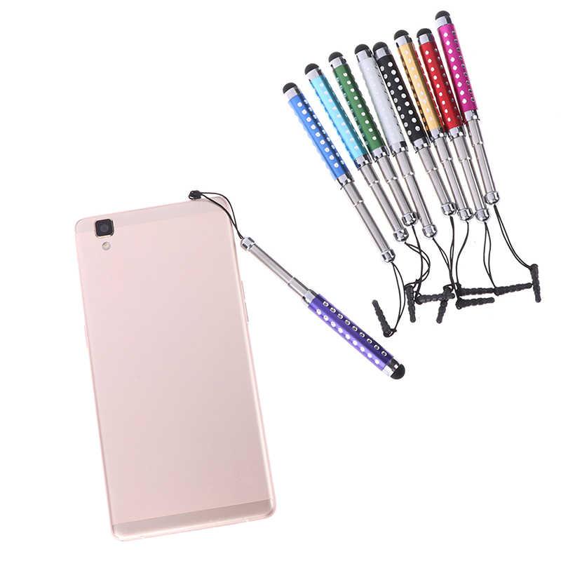 Ritrattabile Capacitiva di Tocco Dello Stilo Dello Schermo di Teblet Penna di Diamante 1 Pc Per il iphone iPad Tablet PC del telefono Mobile