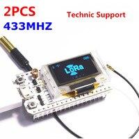 2PCS 433MHZ SX1278 ESP32 LoRa 0 96 Inch Blue OLED Display Bluetooth WIFI Lora Kit