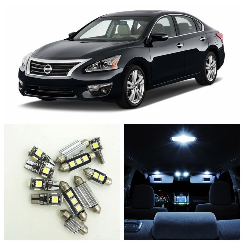 9pcs White Car LED Light Bulbs Interior Package Kit For 2002-2006 Nissan Altima Map Dome Step Courtesy License Plate Lamp 60mm fuel injection throttle body for 2002 2006 nissan altima sentra 2 5l qr25de