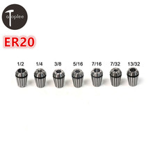 "Hot 1PCS ER20 7/32""-1/2″ Spring Collet Precision Spring Chuck Set For CNC Milling Lathe Tool & Engraving Machine"