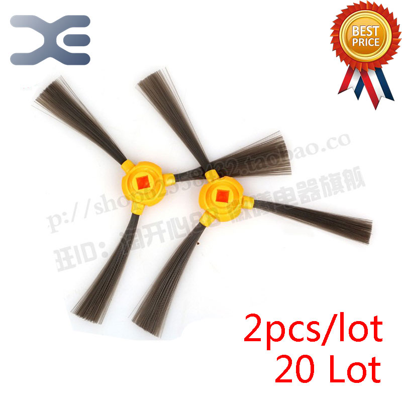 20 Lot Ecovacs TCR266 CEN350 Sweeping Machine Accessories Side Brush Vacuum Cleaner Parts 5x ecovacs hepa filter and 5x fine filtration cotton replacement for d36a tek tcr s tcr s2 tcr660 m1