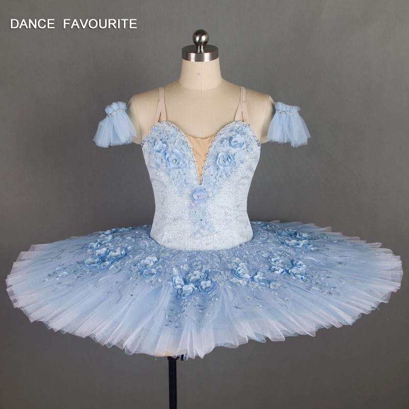 B18037 Stunning Light Blue Professional Ballet Tutu Girl & Women Stage Performance Dance Costume Ballet Tutu