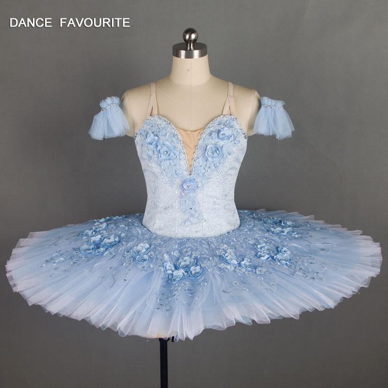 B18037 Stunning Light Blue Professional Ballet Tutu Girl & Women Stage Performance Dance Costume Ballet Tutu