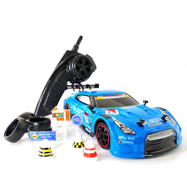 4WD Drive Rapid Drift Remote Control GTR Car 2.4G Radio Control Off Road Vehicle High Speed Model