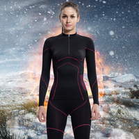 Santic Women Winter Long Sleeve Thermal Cycling Sets Tight Clothing Cycling Base Layer Suits ropa ciclismo invierno LN12009