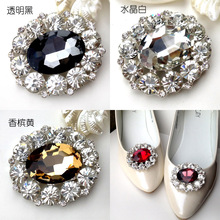 (1 pair/lot)HiFashion crystal rhinestone shoes flower color gemstone women's shoes jewelry accessories removable buckle