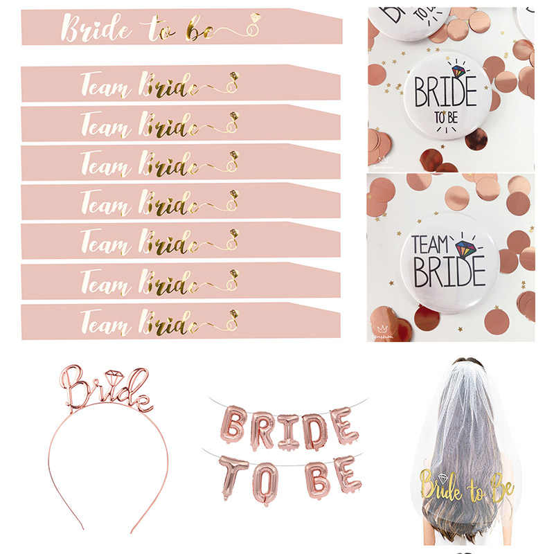 Roze Bruid Om Satijnen Lint Sjerp Team Bruid Vintage Wedding Bridal Shower Bachelorette Party Hen Night Decor Levert TB12